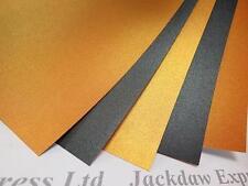 Orange & Black Pearlescent Shimmer Card 2-Sided A4 260gsm Cardmaking Craft AM798
