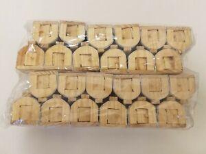 """En Gros Lot De 24 Inachevé Bois & Câble Maille Miniature 2 """" Animal Souris Cages"""