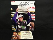 Denny Hamlin Autographed / Signed 8X10 GLOSSY PORTRAIT W/COA....