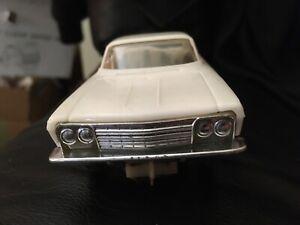 ELDON 1/32 VINTAGE WHITE 1962 CHEVY IMPALA SLOT CAR NICE CONDITION RARE RUNS