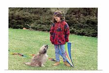 Dog Girl Kite Postcard North Shore Animal League Rescue Playing Unposted