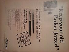 1968 Keep Your Old Parker Jotter Guaruntee Two Years Original Ad
