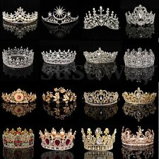 Princess Bridal Wedding Prom Headband Crystal Rhinestone Pearl Veil Tiara Crown