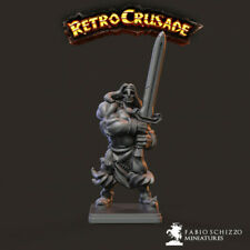 HEROE BARBARIAN  HEROQUEST SCALE 32mm MORDHEIM ZOMBICIDE DnD ROL WARHAMMER