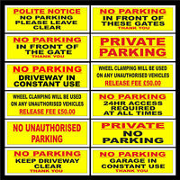 Do not block Private Property Disabled Driveway Parking No Parking Private Driveway Plastic Sign with 4 Pre-Drilled Holes MISC5 Clamping