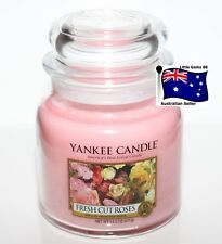 YANKEE CANDLE * FLORAL * Fresh Cut Roses * Medium GLASS JAR