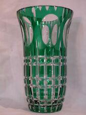 vase ancien cristal taillé couleur val st lambert st louis bon etat art deco