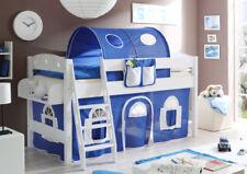 Blaue 200 cm Kinder-Bettgestelle ohne Matratze aus Buche
