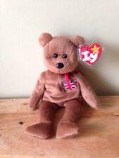 Rare TY Beanie Babies Britannia England Bear Made In Indonesia