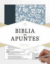 RVR 1960 Biblia de Apuntes - Azul - Piel Genuina y Tela Impresa (2016)