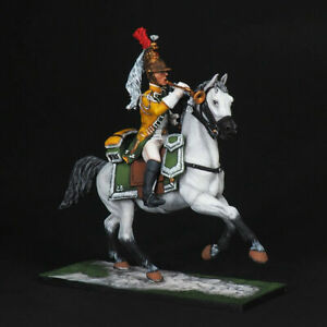 Tin soldier, Trumpeter of the French Dragoons of the 23rd Regim, Napoleonic wars