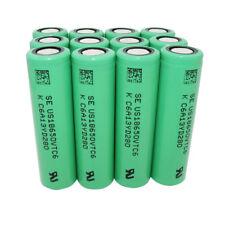 12pcs 18650 3000mAh 3.7V  VTC6 Li-ion Batería Recargable High Drain Battery Vape