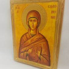 Saint Solomone Agia Solomoni Solomona Byzantine Greek Orthodox Rare Icon Art