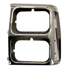 Headlamp Bezel Black Chrome Left Side Jeep Wagoneer XJ 1984-1990 55008047 Crown