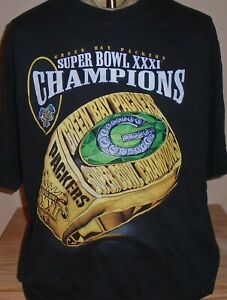 vintage 1990s Green Bay Packers NFL Super Bowl football t shirt XL