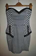 Womens Ladies Stunning Sexy - LIPSY - Strapless Bodycon Party Dress size UK 12