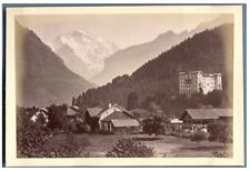 Schweiz, Interlaken, Panorama  Vintage albumen print Tirage albuminé  10x16