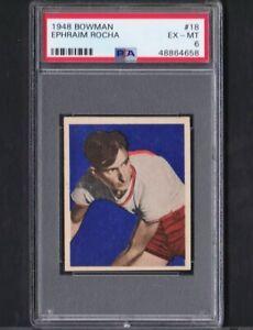 1948 Bowman #18 Ephraim Rocha Bombers Ex-Mt PSA 6