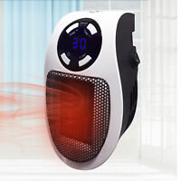 500W Portable Ceramic Plug-in Wall-Outlet Mini Space Heater Overheat Protection
