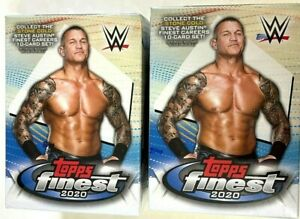 2020 TOPPS FINEST WWE BLASTER BOXES ( 2 BOX LOT )