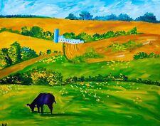 Farmland Landscape Natasha Petrosova Original Painting Impressionism 5509