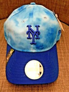 New York Mets New Era Blue Tie-Dye Father's Day Baseball Cap Hat NEW One Size