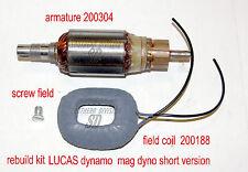 LUCAS short Dynamo field coil 200188 & armature 200304 Ariel Norton BSA Panther