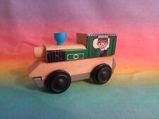 Wood & Plastic Magnetic Train Locomotive - as is