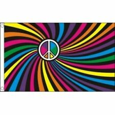 Pride Gay Rainbow Swirl Peace Flag 5ft x 3ft LGBT Carnival Parade Festival