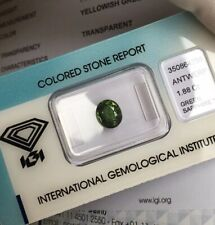 NATURAL 1.88ct VIVID Green Sapphire IGI CERTIFIED Oval Cut Gem