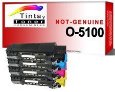 4x XL toner para oki data c3100 c3200 n c5100 n c5200 n c5300 DN c5300 n