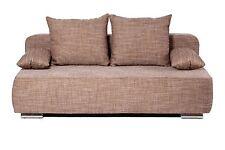 Vicco Schlafsofa Sofa Couch Denver Schlafcouch Strukturstoff Gästebett Beige