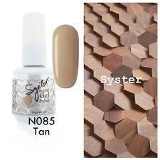 SYSTER 15ml Nail Art Soak Off Color UV Gel Polish UV Lamp N085 - Tan