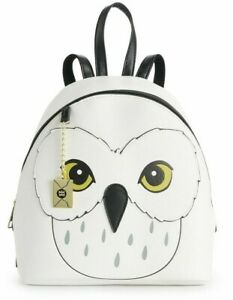 Harry Potter Hedwig Faux Leather Harry's Messenger White Owl Mini Backpack NWT