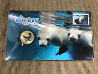 New Mint Uncirculated Crabeater Seal 2018 Tuvalu $1 Coin PNC Limited to 7,500