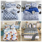 Simple Collection House Bedding Set Single Queen Pillowcase Duvet Cover L
