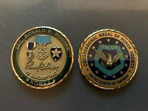 SFC RONALD ROSSER MEDAL OF HONOR CHALLENGE COIN KOREAN WAR