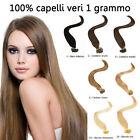 50 REMY HAIR EXTENSION capelli umani 100% CHERATINA CIOCCHE 1gr 53 cm ultrasuon