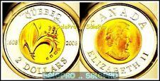 CANADA 2008 CANADIAN VILLE DE QUEBEC QUEEN TOONIE BIMETAL $2 DOLLAR COIN UNC