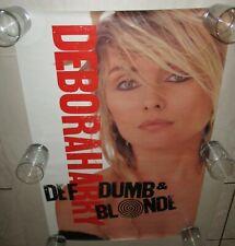 Deborah Harry 1989 Rare Blondie Promo Poster Def, Dumb &Blonde Near Mint 23 x 35