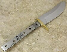 Bowie Knife Making modified drop point Fixed Blade Blank Brass Guard Hidden Tang