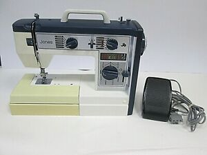 Jones Sewing Machine Model VX760 Tested & Working With Instructions Extras (OS)