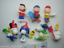 THE PEANUTS SNOOPY WINTER 99 KINDER SURPRISE FIGURES SET FIGURINES COLLECTIBLES