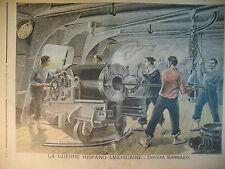 GUERRE ESPAGNE AMERIQUE CUBA SANTIAGO MARINE ARTILLEURS LE PETIT JOURNAL 1898