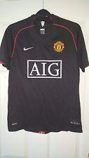 Mens Football Shirt - Manchester United - Away 2007-2008 - Nike - Black - S