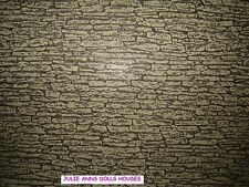 DOLLS HOUSE  STONE MINIATURE WALL PAPER, 12 TH SCALE NEW, JULIE ANNS