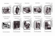 SHERLOCK HOLMES ILLUSTRATIONS - THE GREEK INTERPRETER - POSTCARD SET