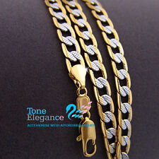 18k 18ct white yellow gold filled GF womens mens solid chain Necklace