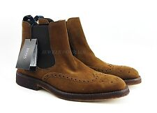 HUGO BOSS BLACK LABEL T-PURIEN SHOES BOOTS BROWN 100% LEATHER NEW SIZE 9, 42