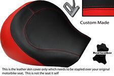 BRIGHT RED & BLACK CUSTOM FITS SUZUKI INTRUDER VL 1500 98-04 FRONT SEAT COVER